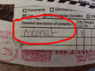 coconut label